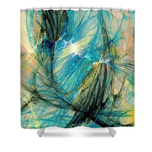 Blue Phoenix Shower Curtain by Anastasiya Malakhova