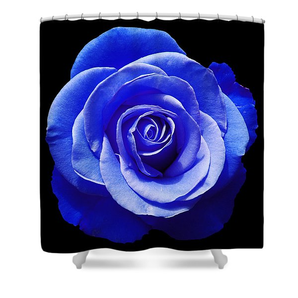 Blue Rose Shower Curtain by Aimee L Maher Photography and Art