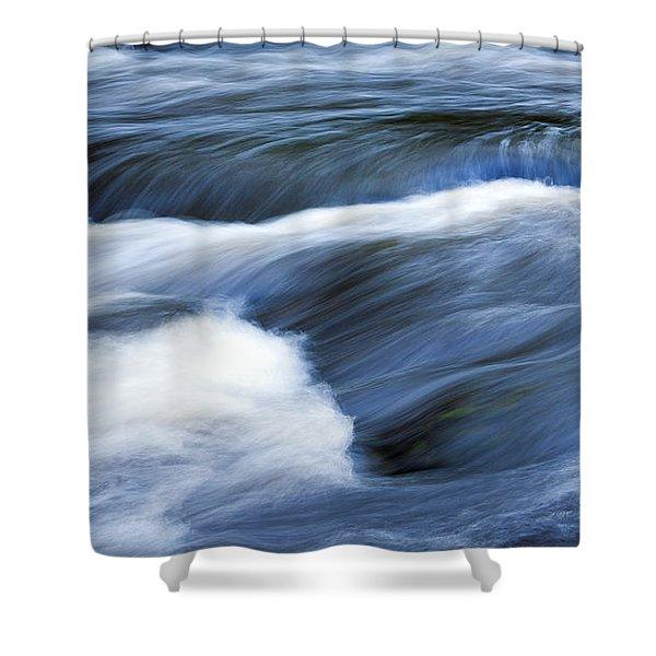 Blue Waltz Shower Curtain by Glenn Gordon
