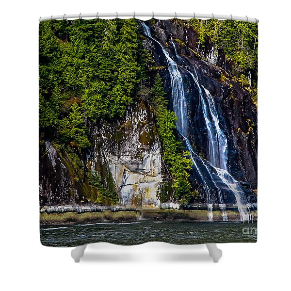 Bluish Shower Curtain by Robert Bales