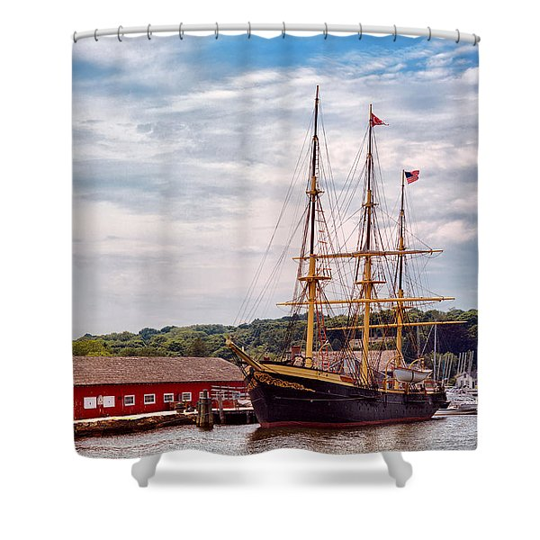Boat - Sailors Delight Shower Curtain by Mike Savad
