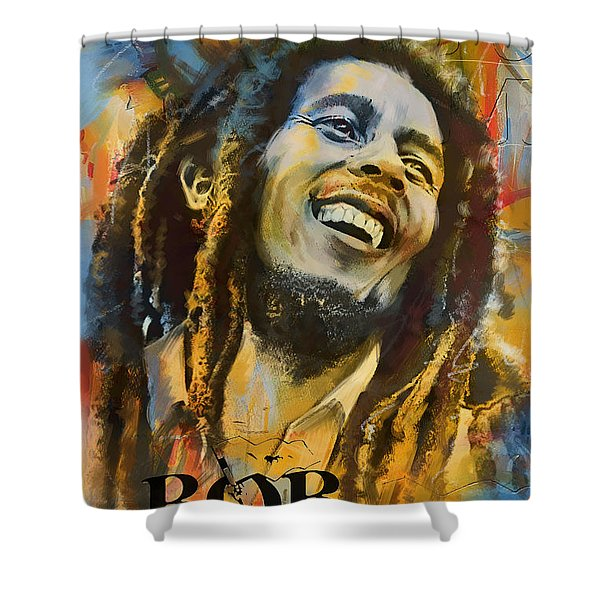 Bob Marley Shower Curtain by Corporate Art Task Force