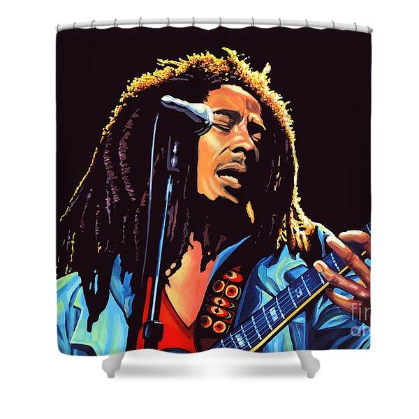 Bob Marley Shower Curtain by Paul Meijering