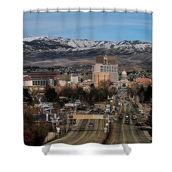 Boise Idaho Shower Curtain by Robert Bales
