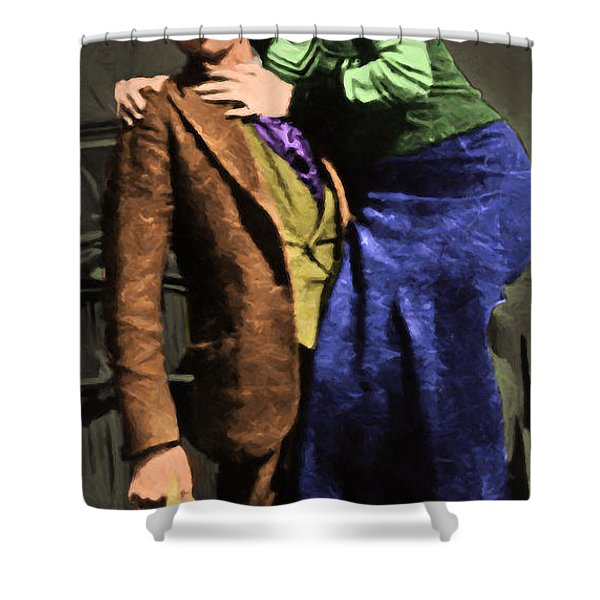 Bonnie And Clyde 20130515 Long Shower Curtain by Wingsdomain Art and Photography
