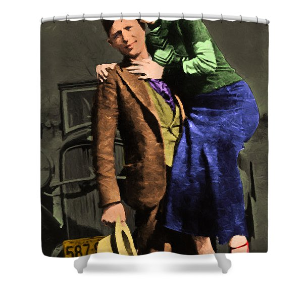Bonnie and Clyde 20130515 Shower Curtain by Wingsdomain Art and Photography
