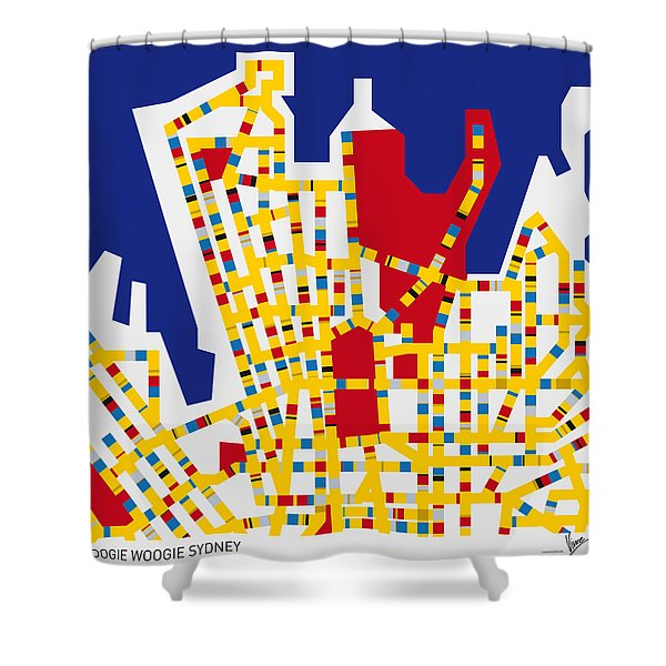 Boogie Woogie Sydney Shower Curtain by Chungkong Art