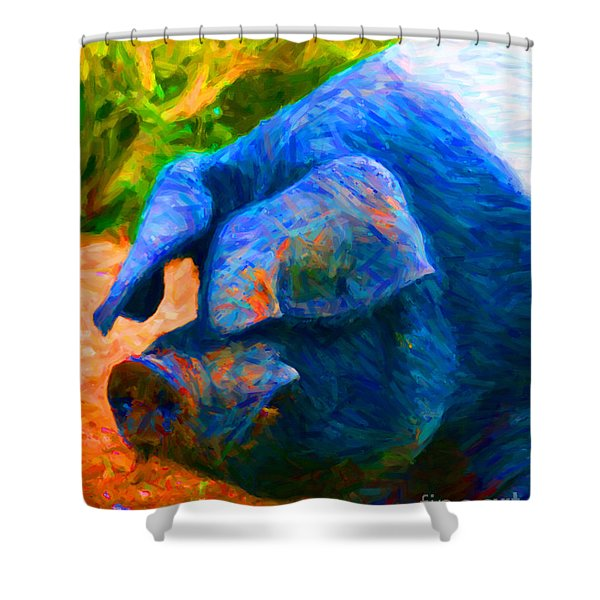Boss Hog - 2013-0108 Shower Curtain by Wingsdomain Art and Photography
