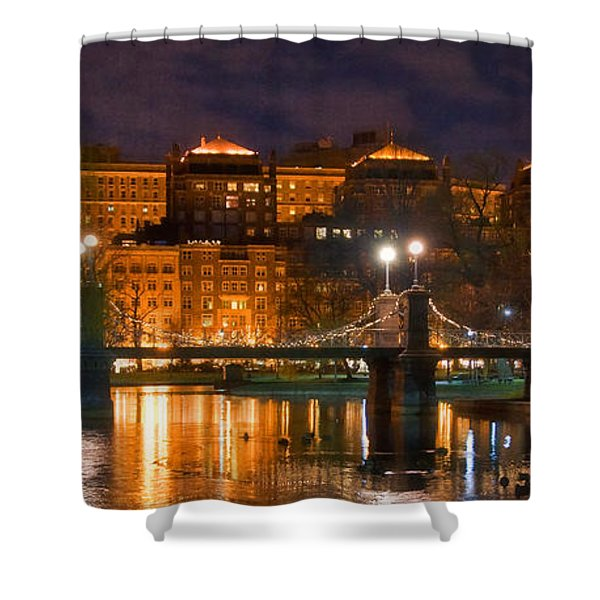Boston Lagoon Bridge 2 Shower Curtain by Joann Vitali
