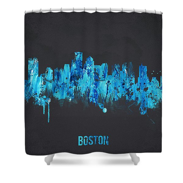 Boston Massachusetts Usa Shower Curtain by Aged Pixel