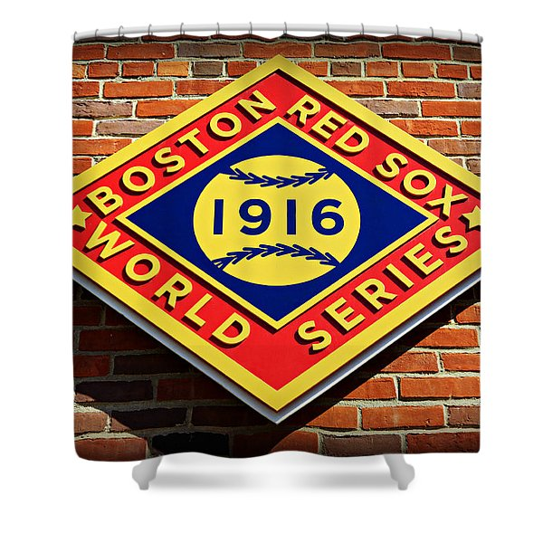 Boston Red Sox 1916 World Champions Shower Curtain by Stephen Stookey