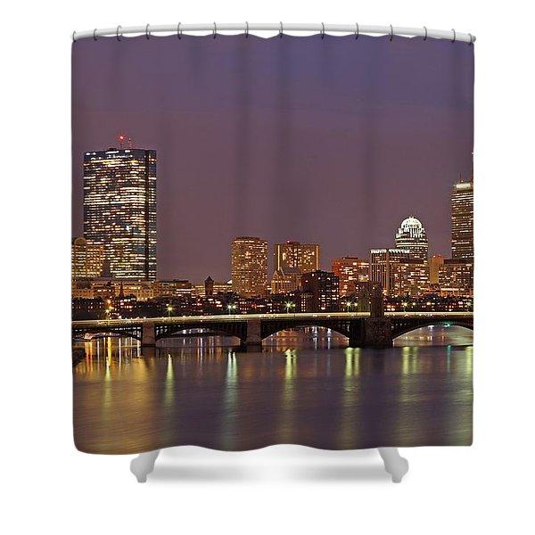 Boston Redline Shower Curtain by Juergen Roth