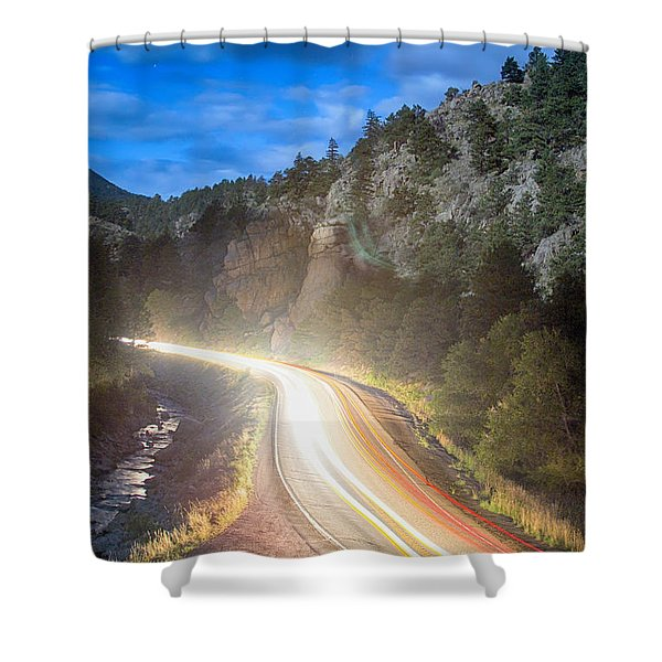 Boulder Canyon Neon Light Shower Curtain by James BO  Insogna