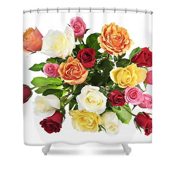 Bouquet Of Roses From Above Shower Curtain by Elena Elisseeva