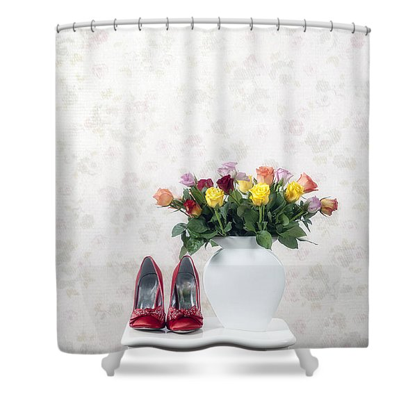 Bouquet Of Roses Shower Curtain by Joana Kruse
