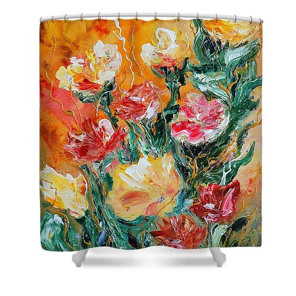 Bouquet Shower Curtain by Teresa Wegrzyn