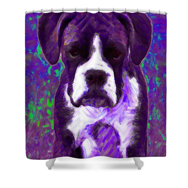 Boxer 20130126v6 Shower Curtain by Wingsdomain Art and Photography