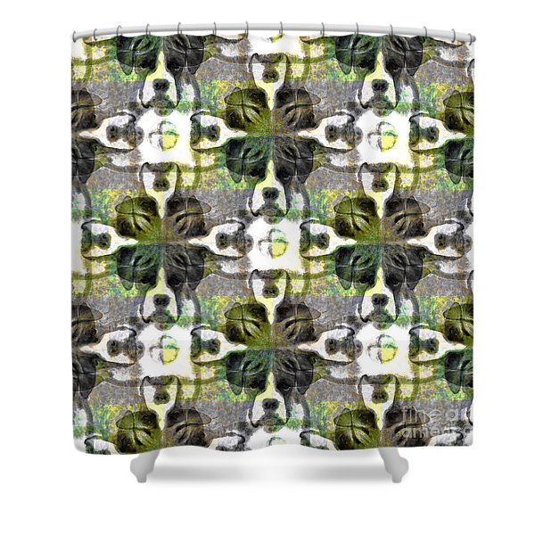 Boxer Abstract 20130126v1 Shower Curtain by Wingsdomain Art and Photography