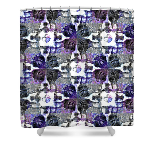 Boxer Abstract 20130126v3 Shower Curtain by Wingsdomain Art and Photography
