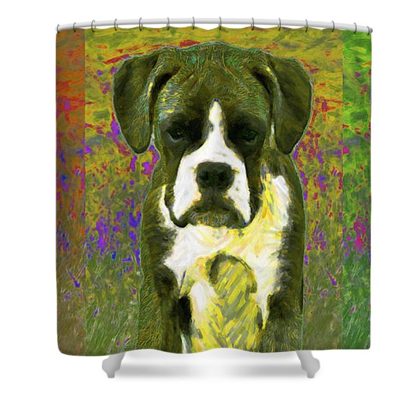 Boxer Three 20130126 Shower Curtain by Wingsdomain Art and Photography