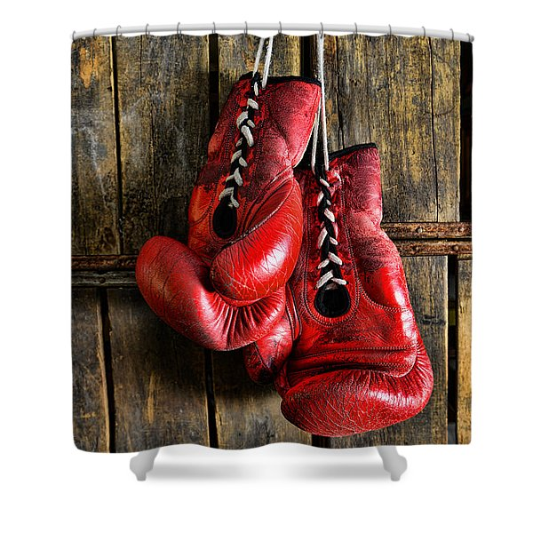 Boxing Gloves - Now retired Shower Curtain by Paul Ward