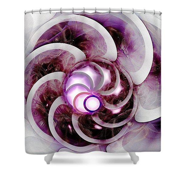 Brain Waves Shower Curtain by Anastasiya Malakhova