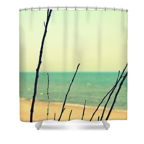 Branches on the Beach Shower Curtain by Michelle Calkins
