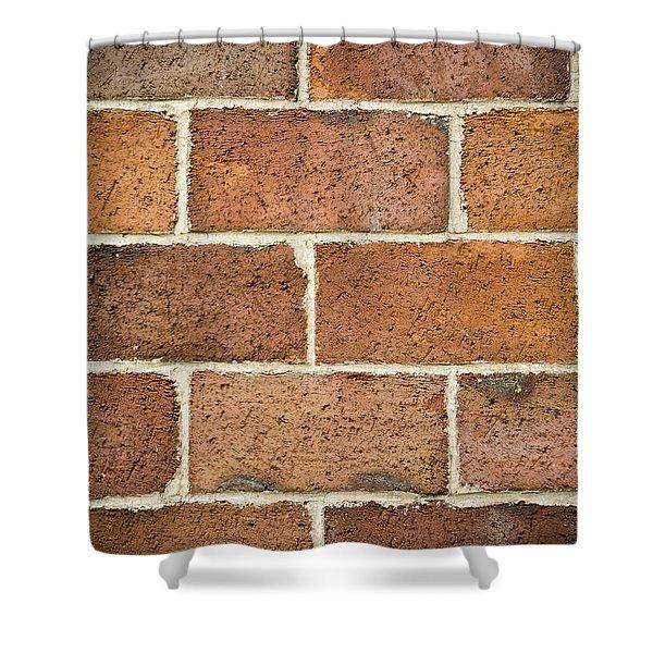 Brick Wall Shower Curtain by Frank Tschakert