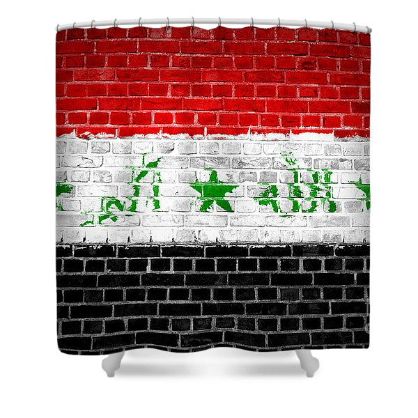 Brick Wall Iraq Shower Curtain by Antony McAulay