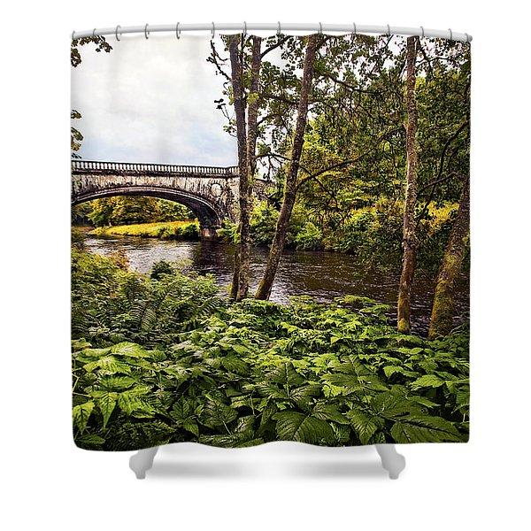 Bridge At Iveraray Castle Shower Curtain by Marcia Colelli