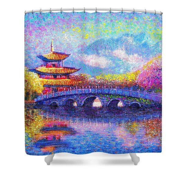 Bridge of Dreams Shower Curtain by Jane Small