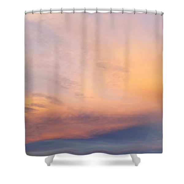 Bright Sunset Sky Shower Curtain by Les Cunliffe