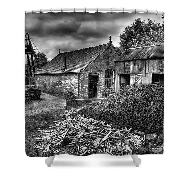 British Mine Shower Curtain by Adrian Evans