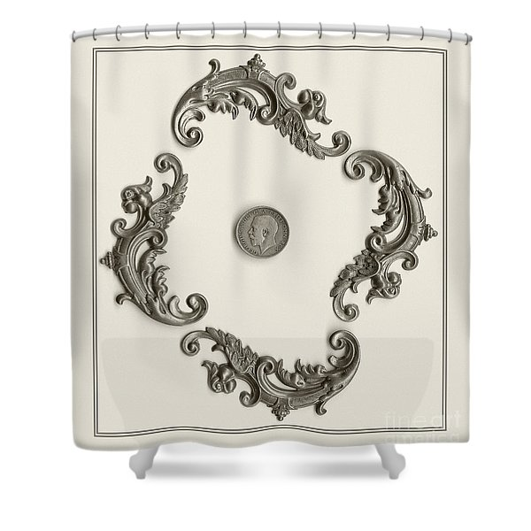 British Shilling Wall Art Shower Curtain by Joseph Baril
