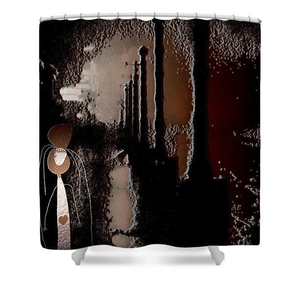 Broadway Meets the West Village at Night Shower Curtain by Natasha Marco