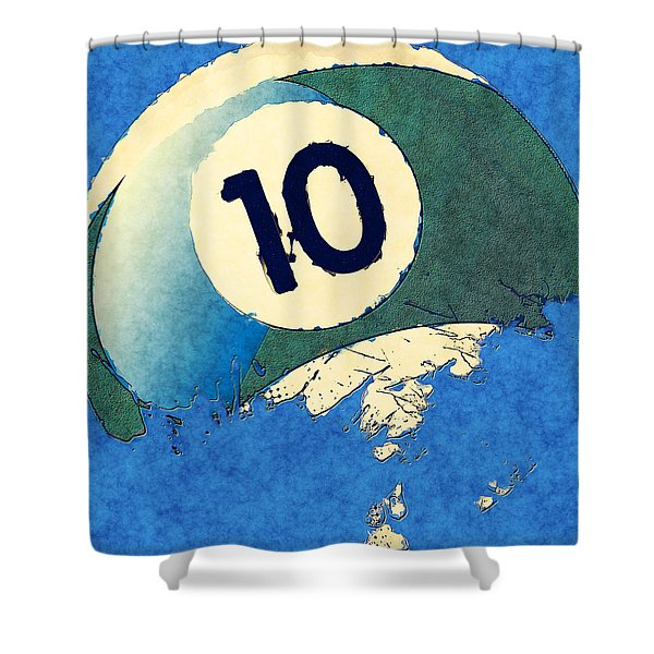 Broken 10 Ball Shower Curtain by David G Paul