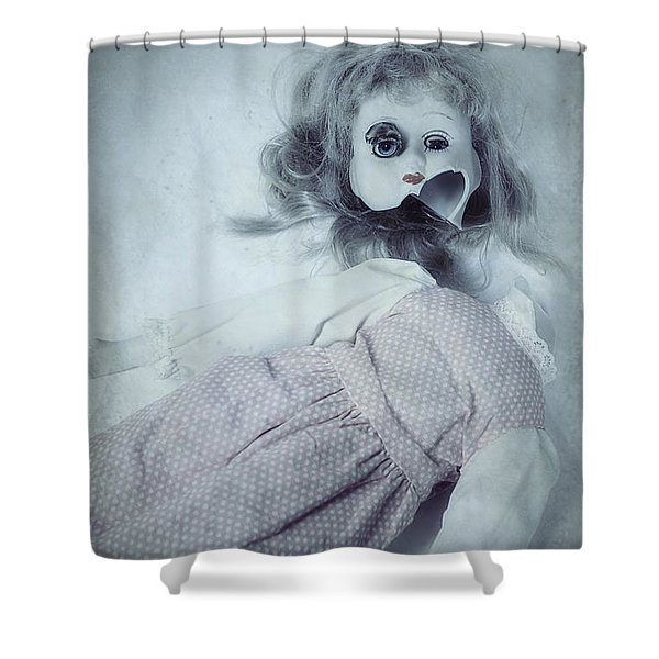Broken Doll Shower Curtain by Joana Kruse