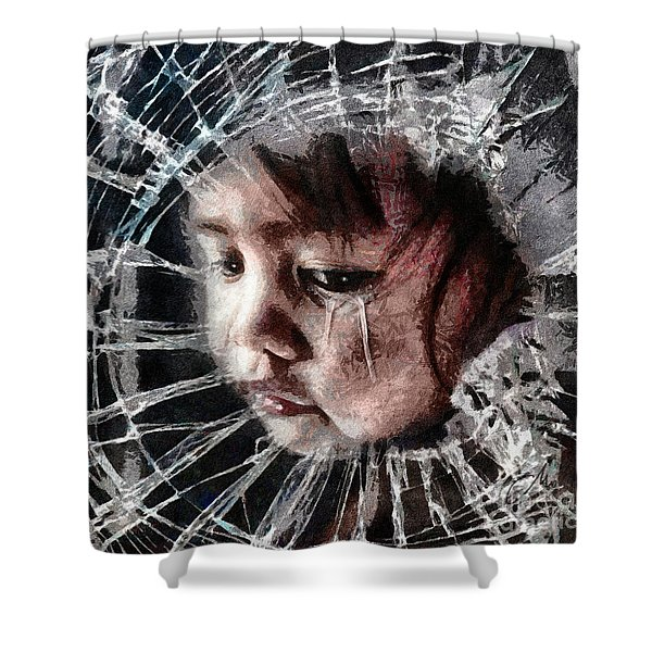 Broken Shower Curtain by Mo T