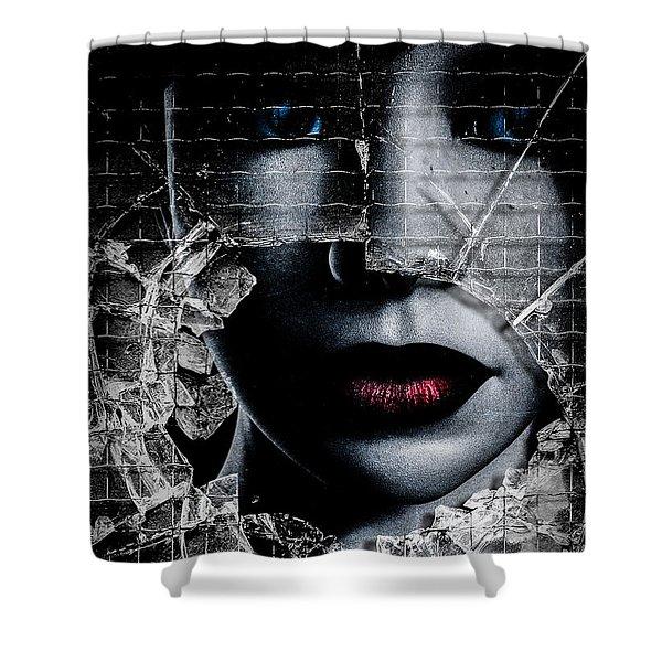 Broken Window Shower Curtain by Bob Orsillo