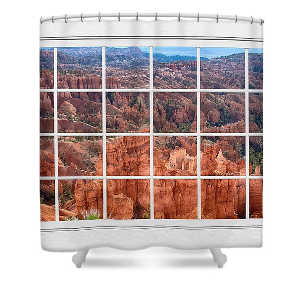 Bryce Canyon White Picture Window View Shower Curtain by James BO  Insogna