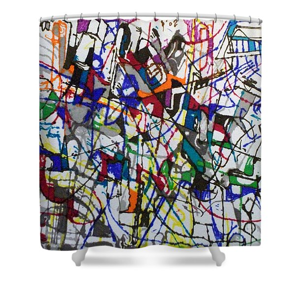 bSeter Elyion 31 Shower Curtain by David Baruch Wolk