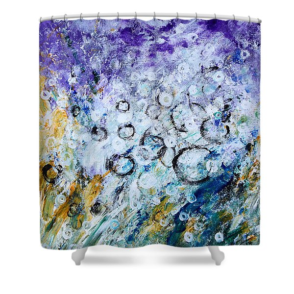 Bubbles Shower Curtain by Kume Bryant