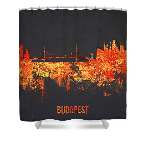 Budapest Hungary Shower Curtain by Aged Pixel
