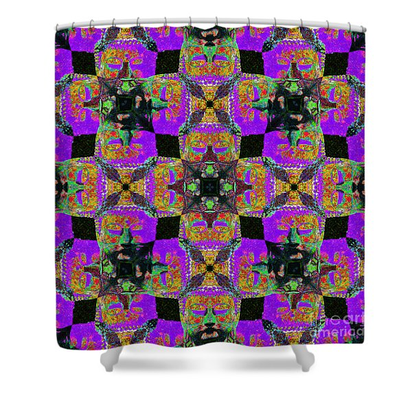 Buddha Abstract 20130130m28 Shower Curtain by Wingsdomain Art and Photography