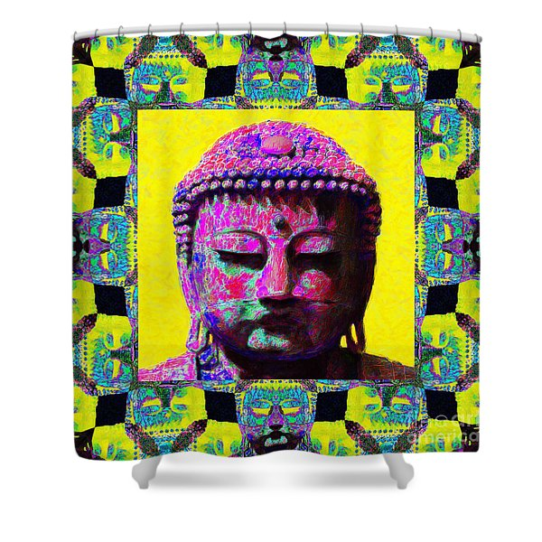 Buddha Abstract Window 20130130p120 Shower Curtain by Wingsdomain Art and Photography