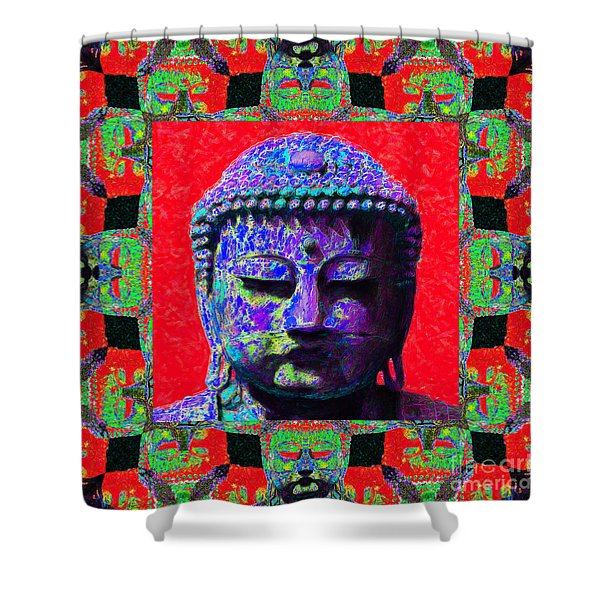 Buddha Abstract Window 20130130p55 Shower Curtain by Wingsdomain Art and Photography