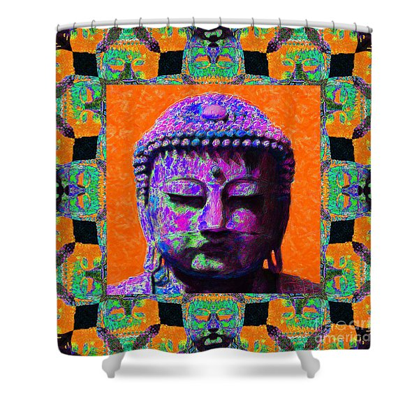 Buddha Abstract Window 20130130p85 Shower Curtain by Wingsdomain Art and Photography