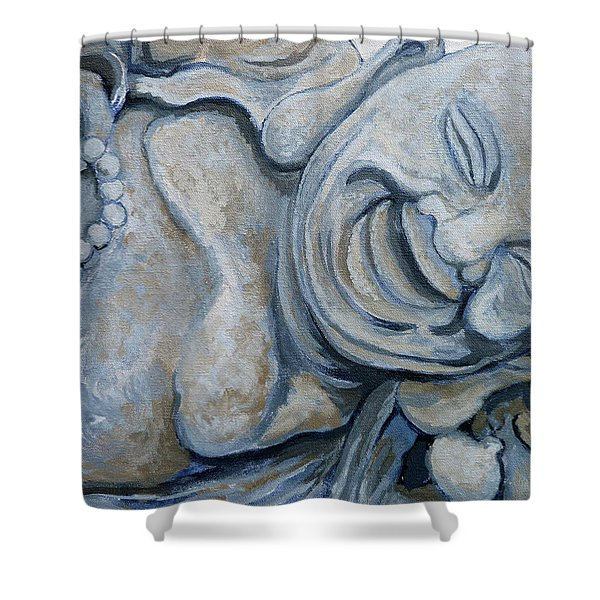 Buddha Bella Shower Curtain by Tom Roderick