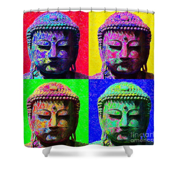 Buddha Four 20130130 Shower Curtain by Wingsdomain Art and Photography