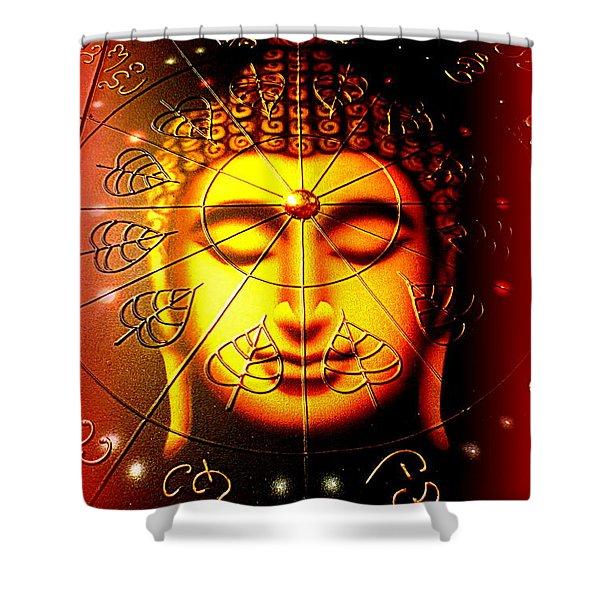 Buddha Shower Curtain by The Creative Minds Art and Photography